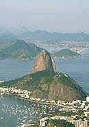 Der Zuckerhut in der Guanabara-Bucht.